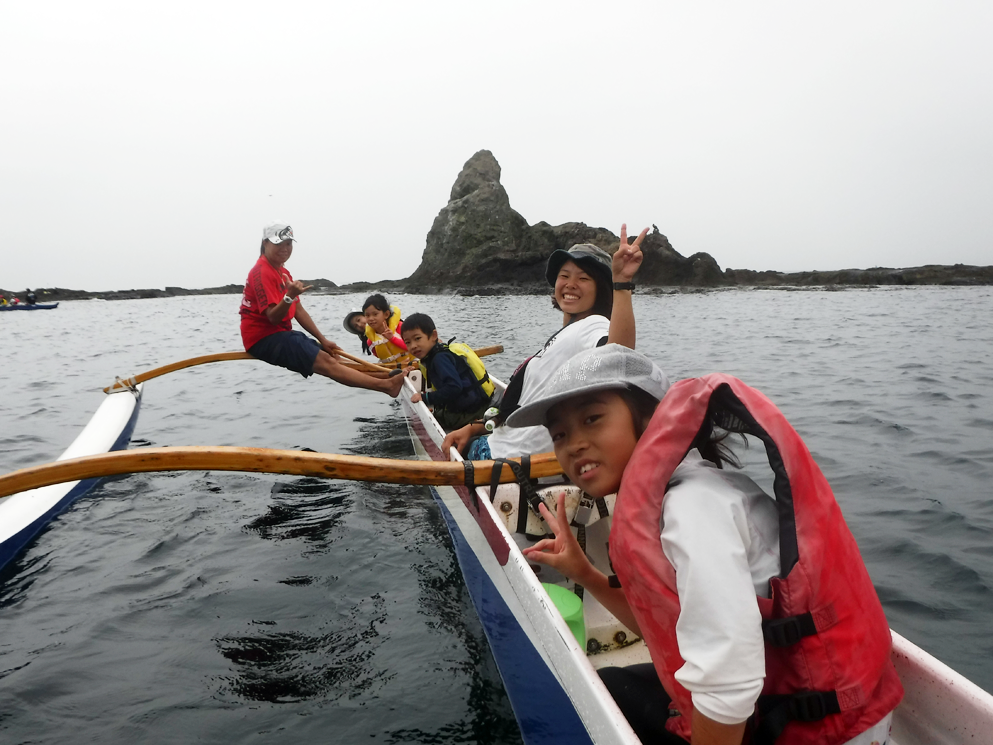 海山キッズ/夏のラストはアウトリガーカヌーを体験