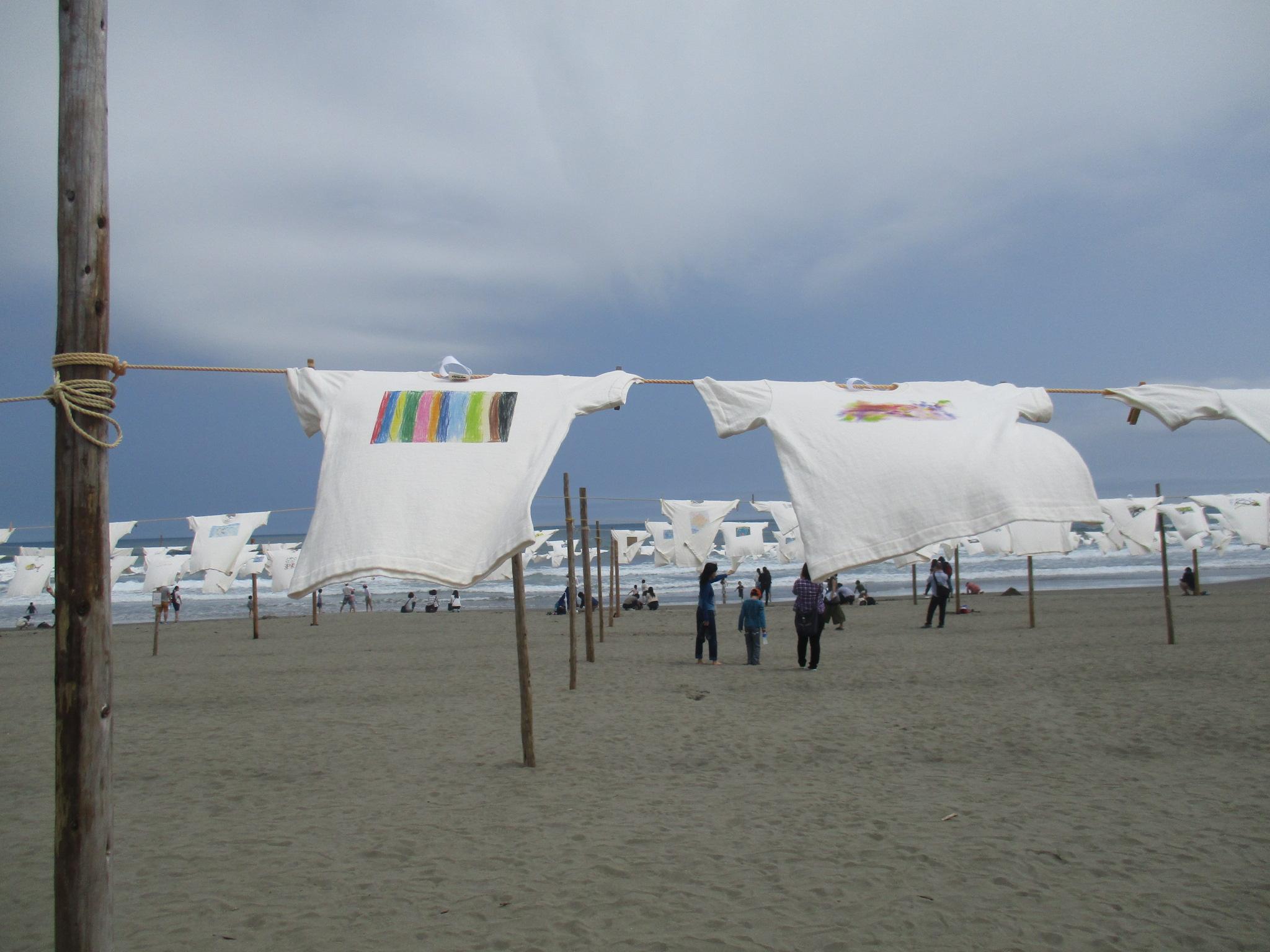 砂浜美術館「Tシャツアート展」に参加しました